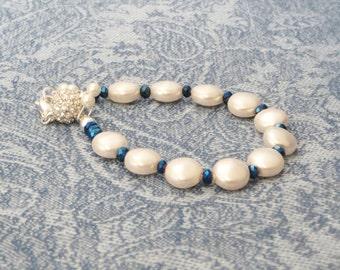 Swarovski Crystal Pearl Bracelet, SB-20.