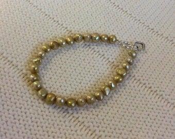Yellow Pearl Bracelet