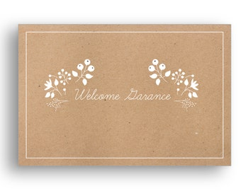 Welcome baby card set (customizable)