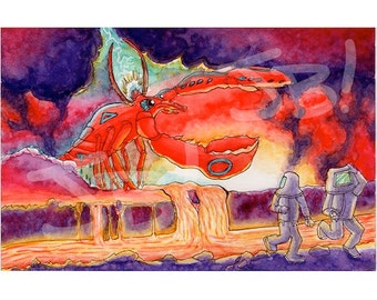 Lava Lobster Original Art Collab Print