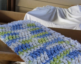 Blue Green an White Dish Cloth