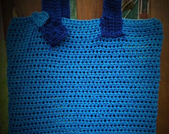 Two blue tote bag