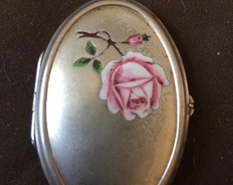 Very Old Enameled Silver Photo Locket