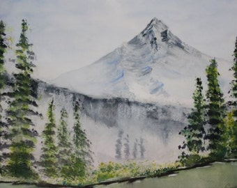 Mountain & Lake by CGWatercolor