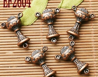 10pcs 2sided crafted connector with 3loops  jewerly making EF2604