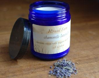 Chamomile Lavender - large jar of calendula cream with organic oils (8.5 ounces)
