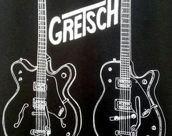 Mens Gretsch classic guitar tee