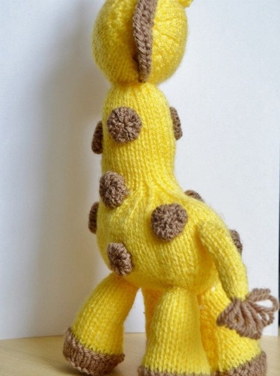 Giraffe Knitting Pattern, Giraffe Knit Pattern, Giraffe Toy Knitting Pattern,...
