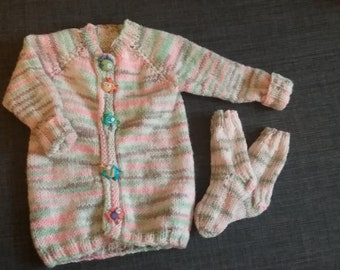 baby sweater and socks