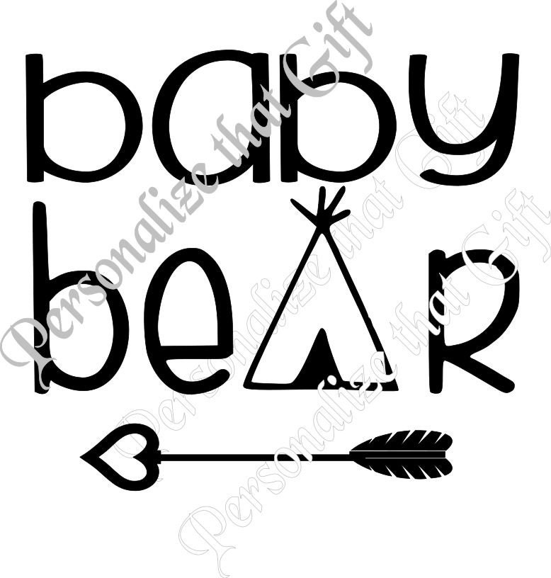 baby bear svg cutting file for cutting machines