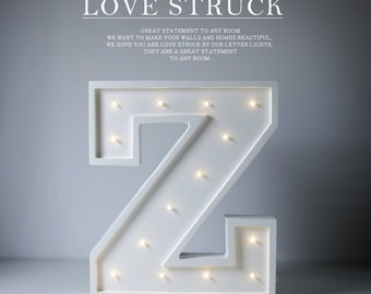 Letter Z Lights,letter lamp,wedding letter lamp,table art light,party letter light,kids decor carnival lights, In stock