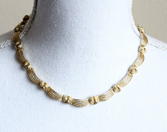 Vintage 1950s Knotted Link Effect Necklace