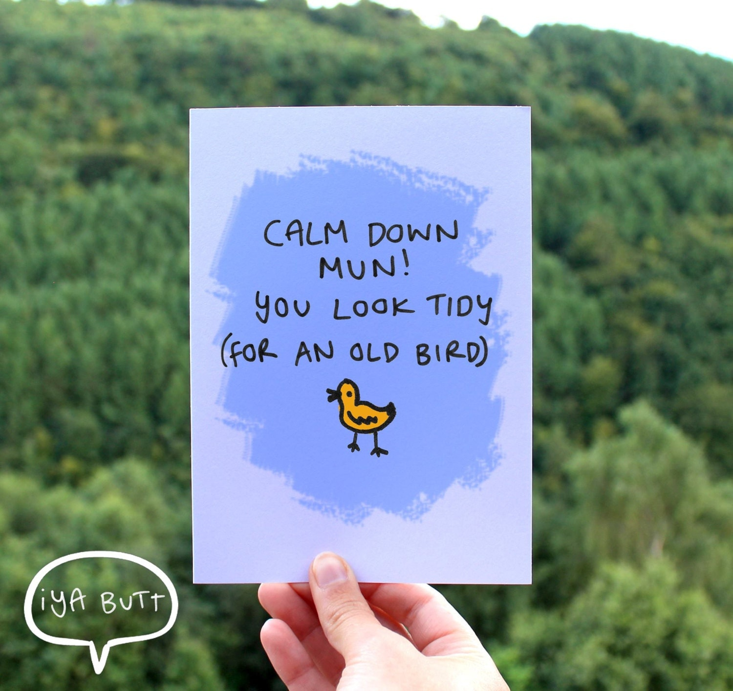 Calm down mun you look tidy for an old bird welsh greetings zoom m4hsunfo