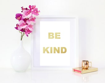 DIGITAL DOWNLOAD, Be Kind, Be Kind art, wall decor
