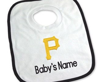 Personalized Pittsburgh Pirates Baby Bib