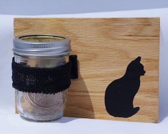 Mason Jar holder for Cat Treats