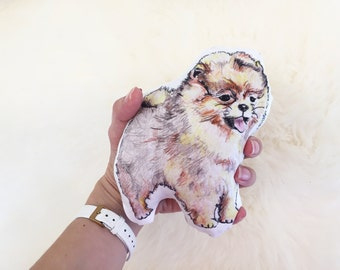 Pomeranian rattle | pom dog | baby toy | baby rattle | new baby gift |organic baby rattle | baby shower | plushie