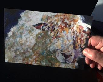 Wooly Sheep Jumbo Greeting Card | Irish sheep | All Occasions Card