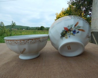 2 Vintage French Cafe au Lait Bowls.