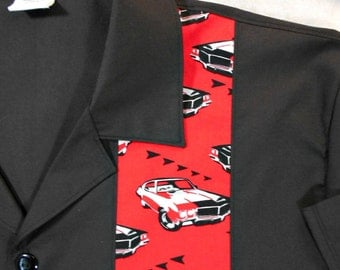 Hot Rod, Cars, Vintage Car, Auto, Rockabilly, Bowling shirt - S to 2XL