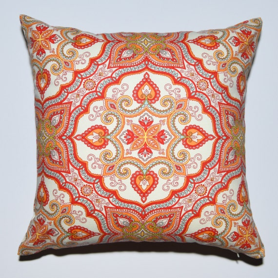 Decorative Pillows Blue And Orange : Decorative Pillow Cover Yellow Orange Blue Green Off