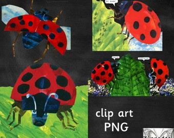 The Grouchy Ladybug Clipart - Eric Carle