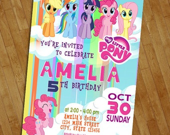 My Little Pony Birthday Invitation, My Little Pony Invitation, Little Pony Birthday invitation, Pony Birthday Invitation, Little Pony