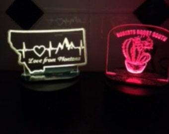 Custom nightlight, engraved night light, led security light, safety light, bathroom light, nightlight