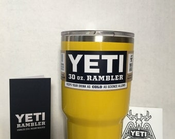 YETI! 30oz Yeti Stainless Steel Rambler tumbler/Cup Powder Coated Yellow