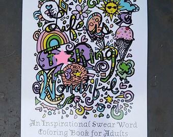 swear word coloring book inspirational physical hard copy curse word cuss