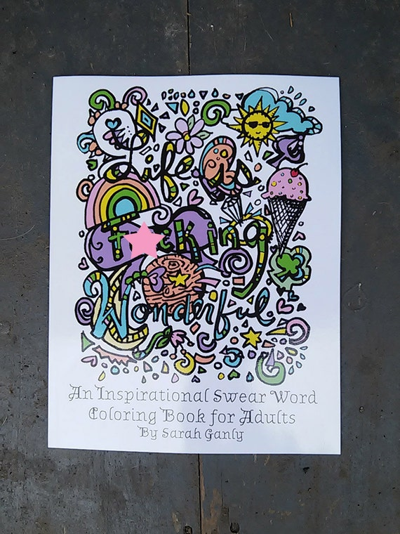 swear word coloring book inspirational physical hard copy curse word cuss - Inspirational Word Coloring Pages