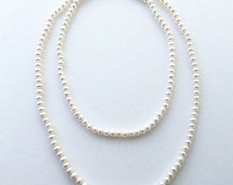 Elegant Long Strand Pearl Necklace
