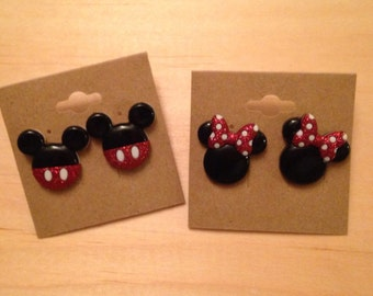 Minnie or Mickey earrings