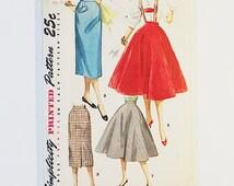 Simplicity 1281   50s Circle Skirt Pattern   50s Teen Skirt Pattern   50s Sewing Pattern