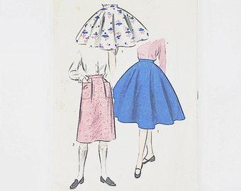 50s Circle Skirt Pattern | Advance 6968 Girls Skirt Pattern | 50s Sewing Pattern