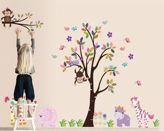 Tree Wall Decal Animals Wall Decal Wall Decor Wall Art