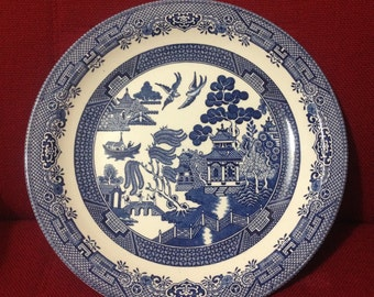 Churchill Blue Willow Plate 31cm