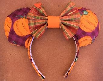Disney Autumn/Fall Pumpkin Harvest Minnie Mouse Ears