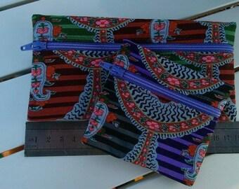 E053 - Set of two zippered pouches