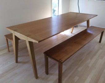 Customized dining table with bench