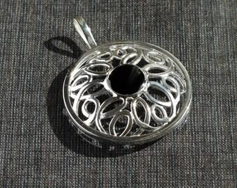 Silver Pendant with smoky quartz