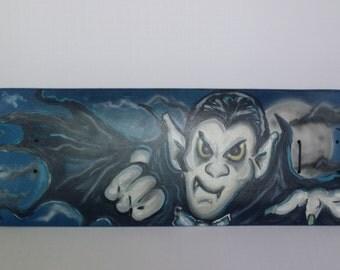 Night Flight, Dracula Halloween skateboard wall mount