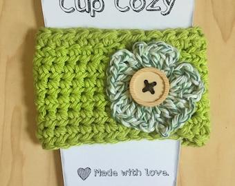Cup Cozy, Mug Cozy, Coffee Cozy, Crocheted Cozy, Cup Sleeve