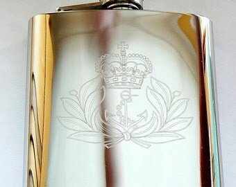 Royal Navy Stainless Steel Hip Flask