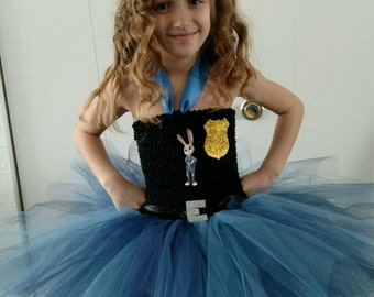 Judy hopps tutu dress - Zootopia costume - Zootopia tutu dress - Judy Hopps tutu dress - police costume - Bunny rabbit costume - tutu dress