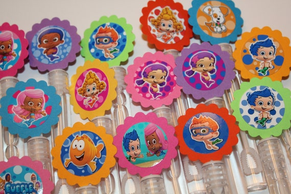 Bubble guppies mini bubble wands birthday party by for Mini bubble wands