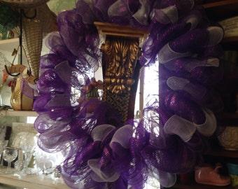 Purple Sparky Wreath
