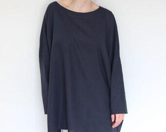 Loose linen tunic. Linen top, One size linen, Maxi linen tunic, Boho top, Linen blouse