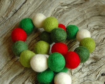 Hip Evergreen - 22cm 50ct Felt Ball Garland or Loose Pack - Pom Pom - FREE SHIPPING USA | Bunting