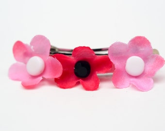girls small 50mm pink buttercup french barrette